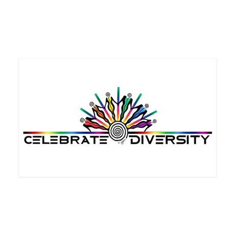 Celebrate Diversity 35x21 Wall Decal