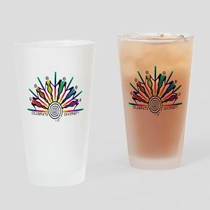Celebrate Diversity Drinking Glass