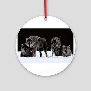 Dark Wolves Ornament (Round)