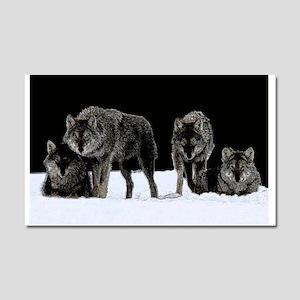 Dark Wolves Car Magnet 20 x 12