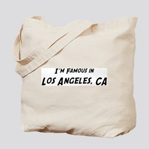 Famous in Los Angeles Tote Bag