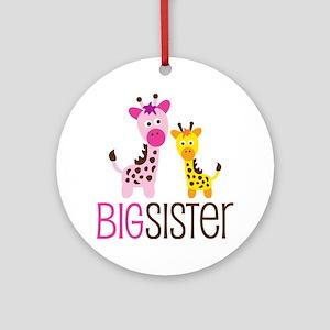 Giraffe Big Sister Ornament (Round)