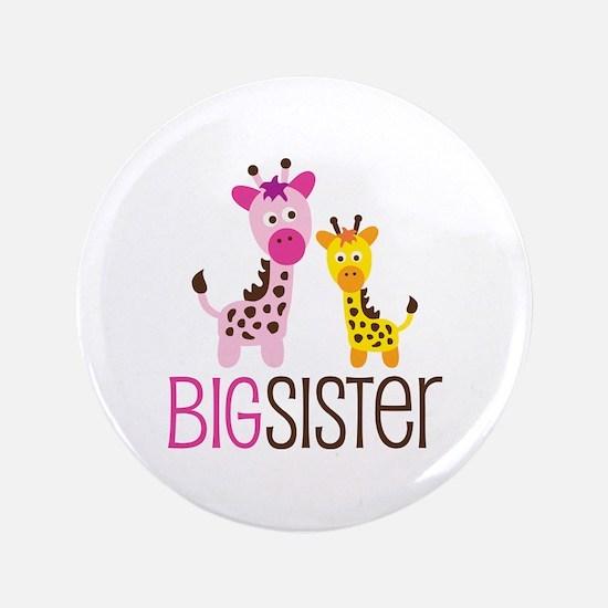 "Giraffe Big Sister 3.5"" Button"