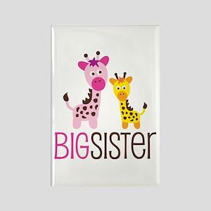 Giraffe Big Sister Rectangle Magnet