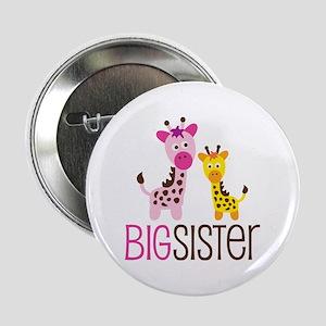 "Giraffe Big Sister 2.25"" Button"