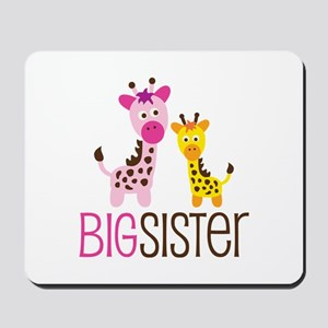 Giraffe Big Sister Mousepad