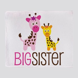 Giraffe Big Sister Throw Blanket