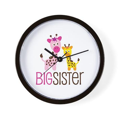 Giraffe Big Sister Wall Clock