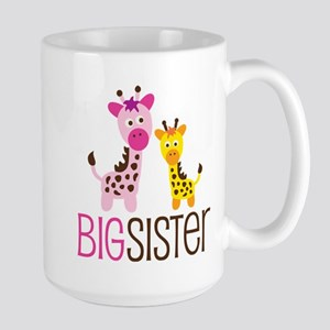Giraffe Big Sister Large Mug