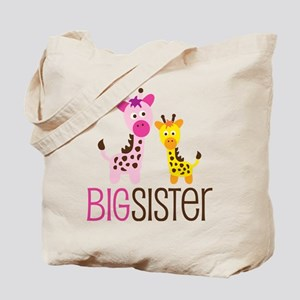 Giraffe Big Sister Tote Bag