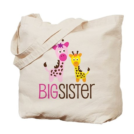 Giraffe Big Sister Tote Bag