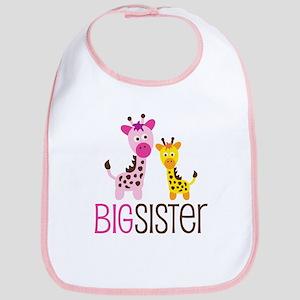 Giraffe Big Sister Bib