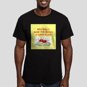 meatballs Men's Fitted T-Shirt (dark)