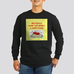 meatballs Long Sleeve Dark T-Shirt