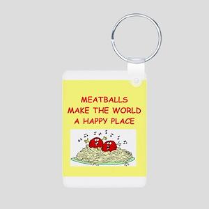 meatballs Aluminum Photo Keychain