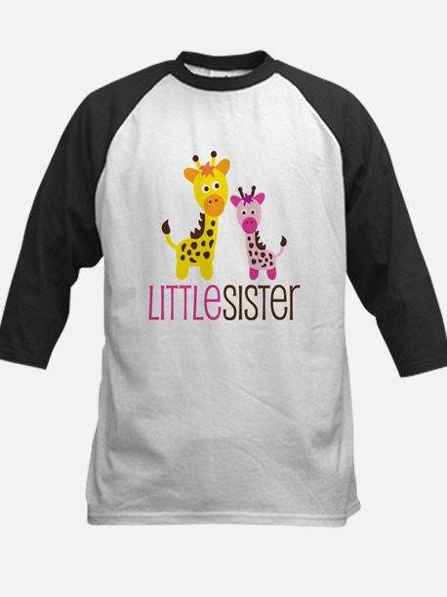 Giraffe Little Sister Kids Baseball Jersey