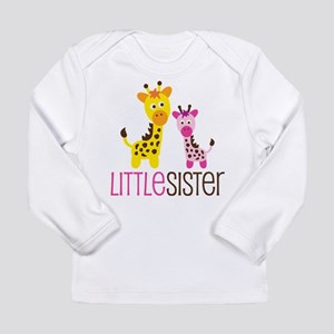 Giraffe Little Sister Long Sleeve Infant T-Shirt
