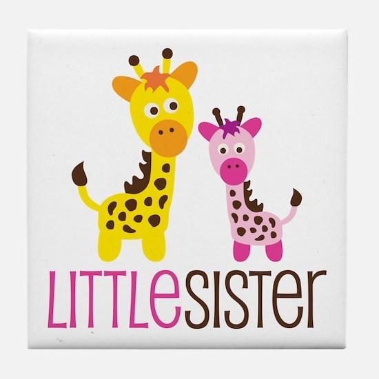 Giraffe Little Sister Tile Coaster
