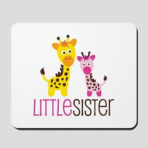 Giraffe Little Sister Mousepad
