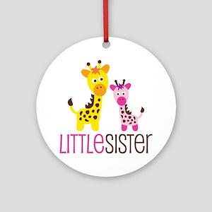 Giraffe Little Sister Ornament (Round)