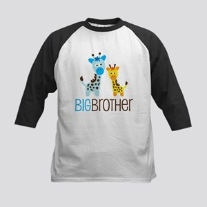 Giraffe Big Brother Kids Baseball Jersey