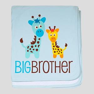 Giraffe Big Brother baby blanket