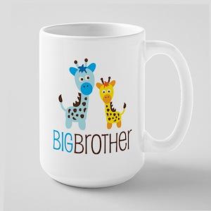 Giraffe Big Brother Large Mug