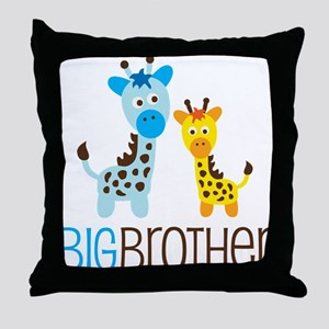 Giraffe Big Brother Throw Pillow