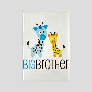 Giraffe Big Brother Rectangle Magnet