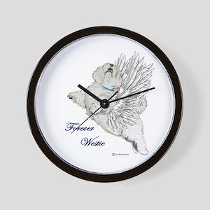 Heavenly Westie Wall Clock