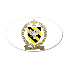 ST. AMAND Family Crest 38.5 x 24.5 Oval Wall Peel
