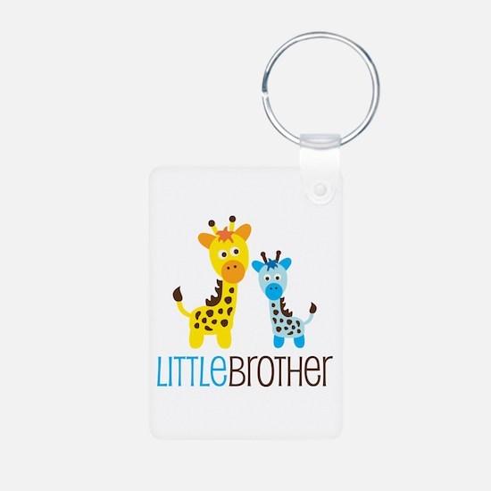 Giraffe Little Brother Aluminum Photo Keychain