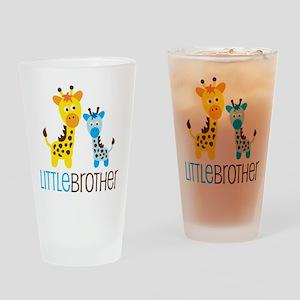 Giraffe Little Brother Drinking Glass