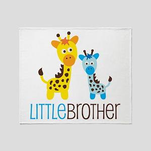 Giraffe Little Brother Throw Blanket