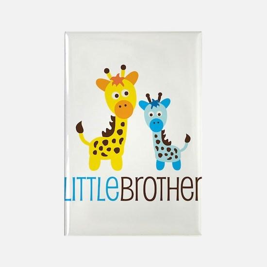 Giraffe Little Brother Rectangle Magnet