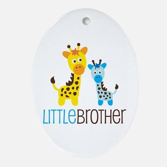 Giraffe Little Brother Ornament (Oval)