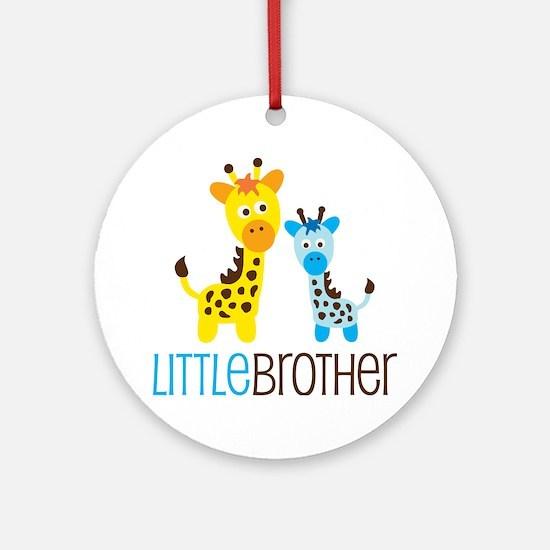 Giraffe Little Brother Ornament (Round)