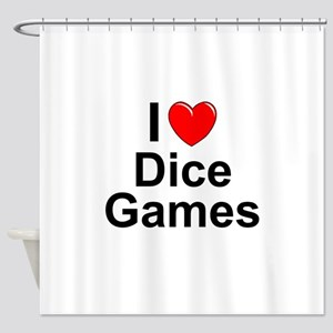 Dice Games Shower Curtain