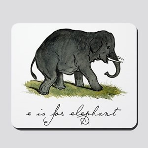E is for Elephant Mousepad