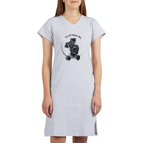 Black Schnazuer IAAM Women's Nightshirt