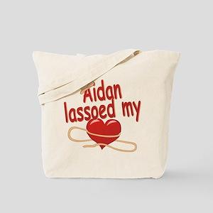 Aidan Lassoed My Heart Tote Bag