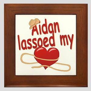 Aidan Lassoed My Heart Framed Tile