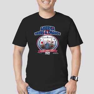 """""""Chinese Drilling"""" Men's Fitted T-Shirt (dark)"""