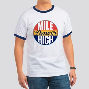 Denver Vintage Label Ringer T