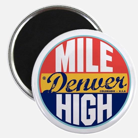 Denver Vintage Label Magnet