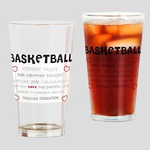 Cherish Basketball Drinking Glass