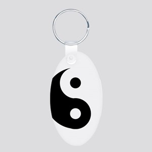Yin & Yang (Traditional) Aluminum Oval Keychain