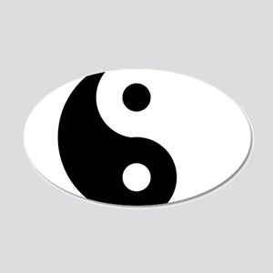 Yin & Yang (Traditional) 20x12 Oval Wall Decal