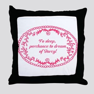 Dreaming of Darcy Throw Pillow