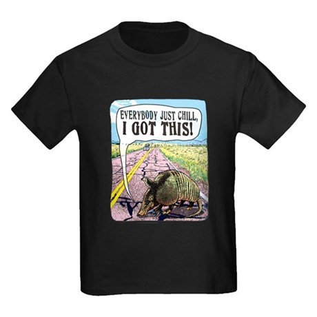 Armadillo's Got This Kids Dark T-Shirt